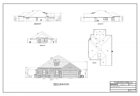 1501 NW 12th St. Elevation of Plan D-3282 - 2